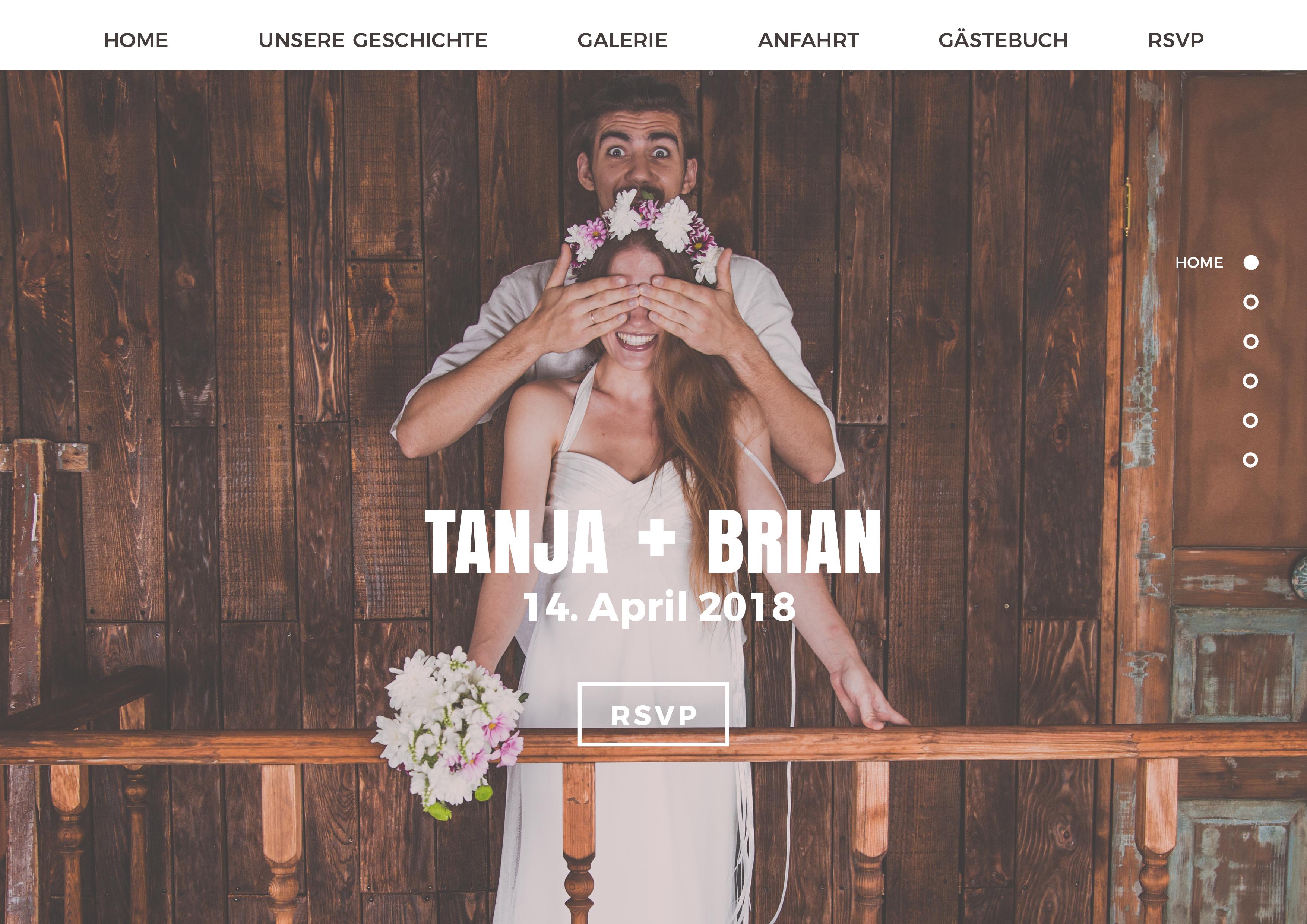 designbeispiel fr eine hochzeitshomepage - Hochzeitshomepage Beispiele