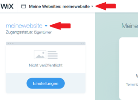 Id 728 Screenshot Wix Website Auswählen