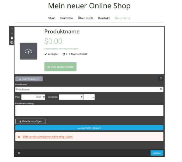 Id 610 Jimdo Online Shop Einrichten Gross