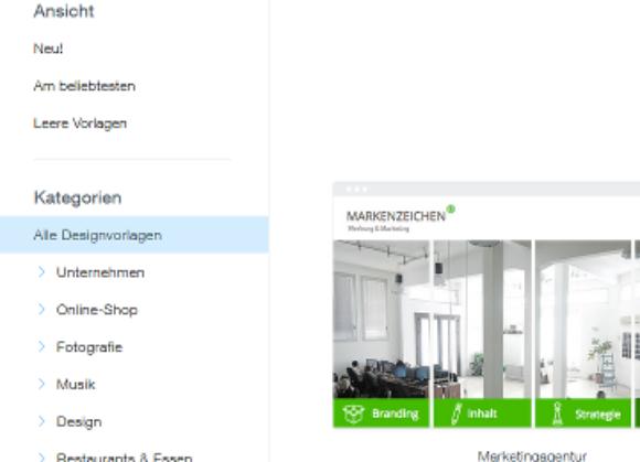 Wix.com: So richtest Du ein Parallax Template ein