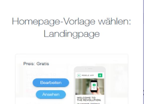 Id 728 Screenshot Wix Vorlage Landing Page Ansehen