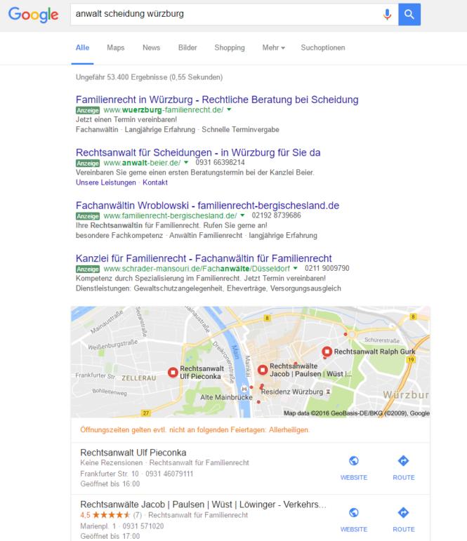 Google-Suchergebnis local