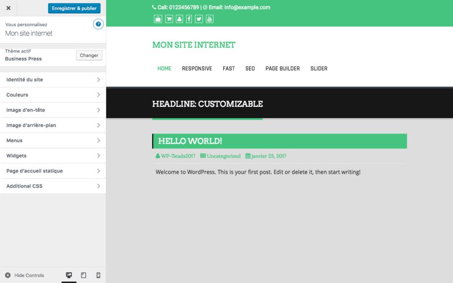 Wordpress - Personnalisation