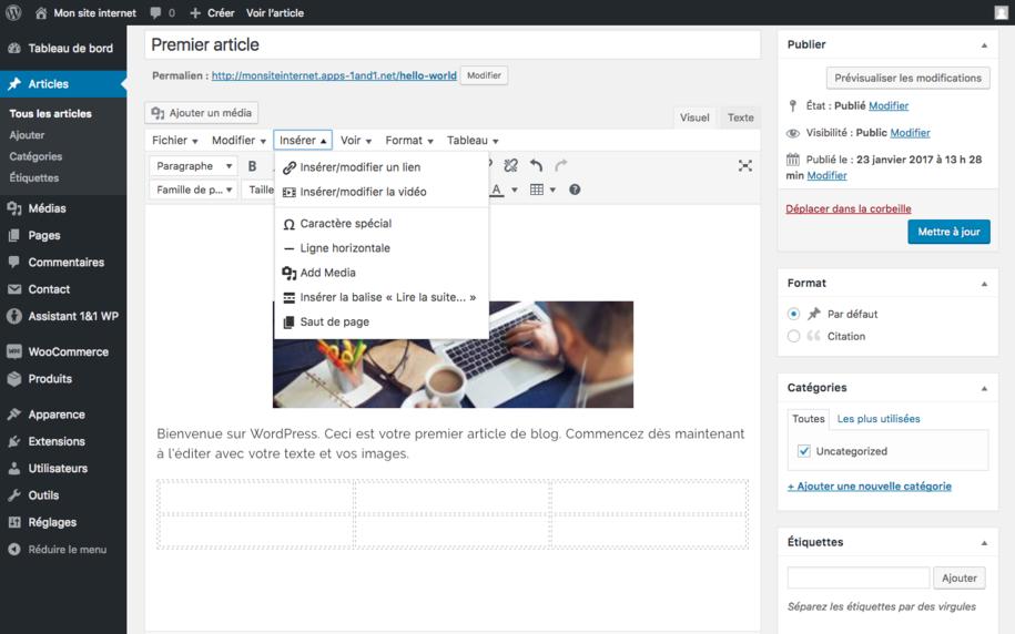 Wordpress - L'utilisation