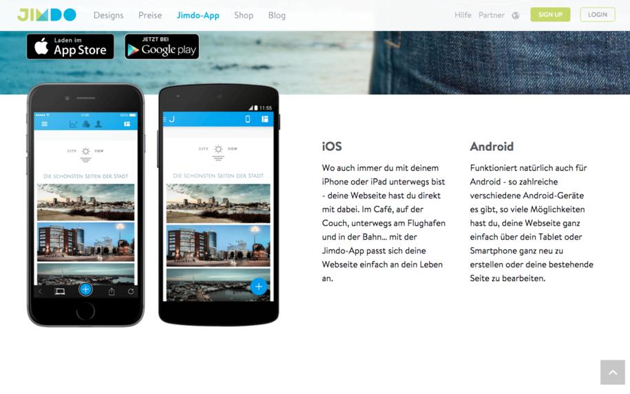 Jimdo App
