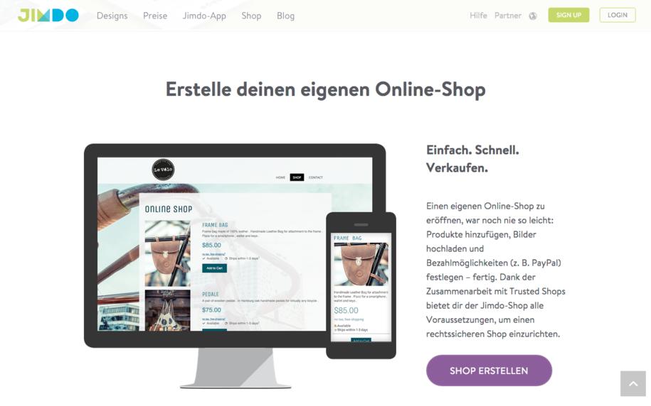 Jimdo Online Shop