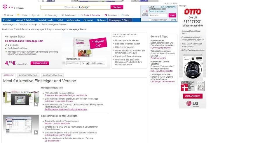 Telekom Tarif Homepage Starter