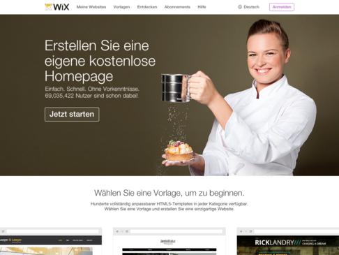 wix Startseite