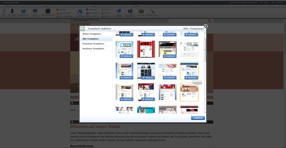 Webnode Templates Designvorlagen Layout