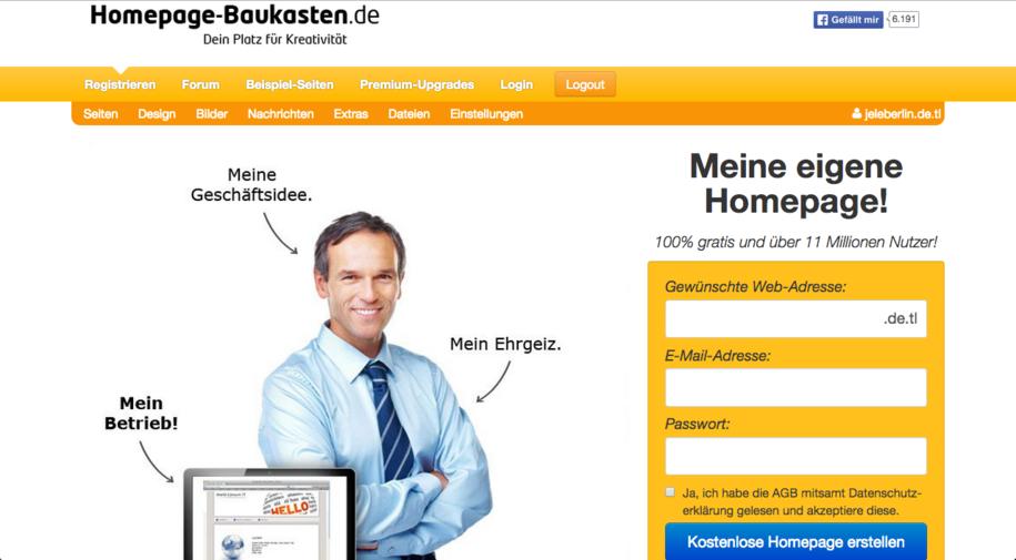 Homepage-Baukasten.de Startseite
